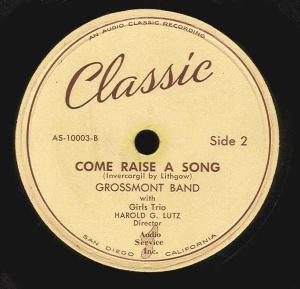 COME RAISE A SONG